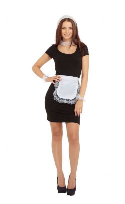 Ladies French Maid Set Fancy Dress-Up-Kit France National Dress Fancy Dress Outfit